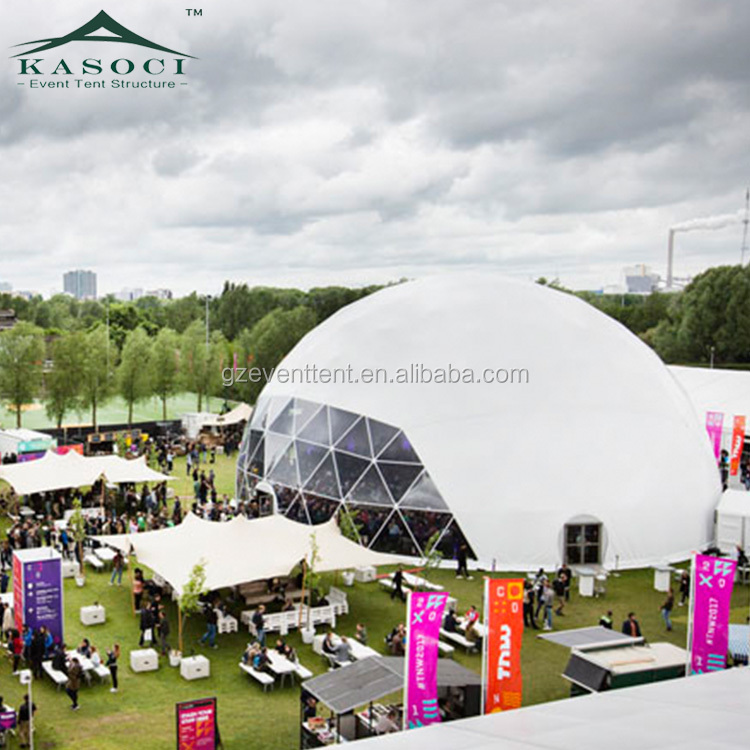 Glamping outdoor games giants biodome tent, geodesic dome house for event