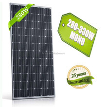 A Grade cell high efficiency 280w solar panel 36v poly solar module 280w in China