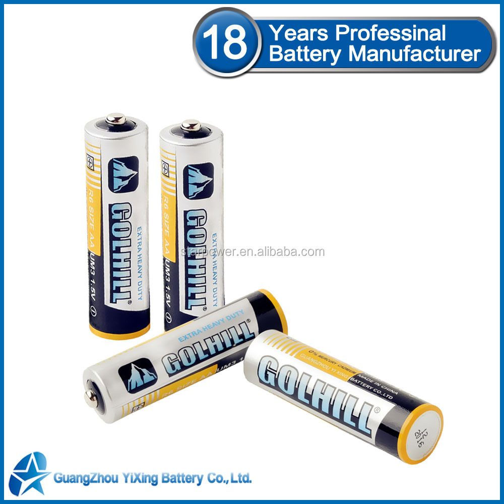 Dry battery Um3 r6 aa heavy duty battery