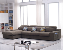Wholesale modern europe style fabric corner sofa set for living room