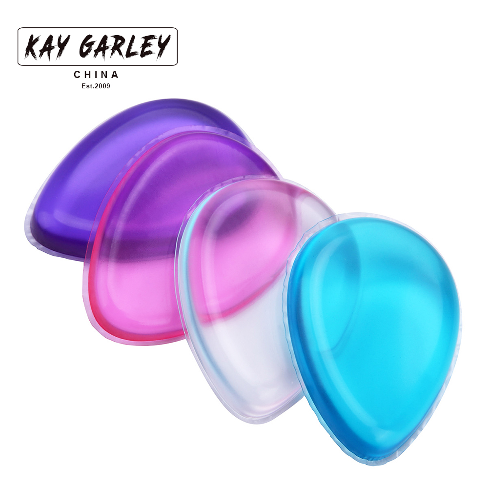 Drop shaped makeup blending silicone puff for foundation liquid powder bb cream smooth flawless beauty face cosmetic jelly tool