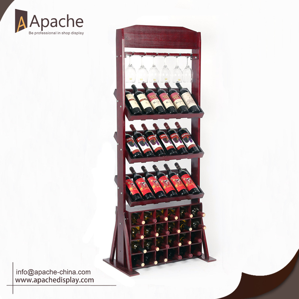 Hot sales Wooden wine display <strong>stand</strong> for wholesale