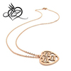 wholesale stainless steel rose gold heart pendant fashion pendants necklace