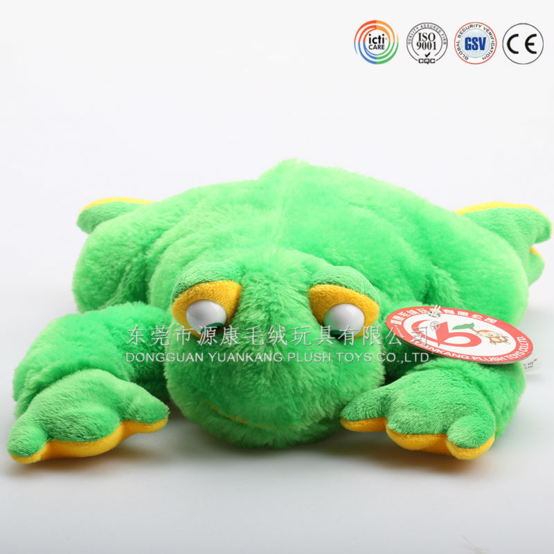 green frog dog toy,jumping frog toy,crazy frog toy