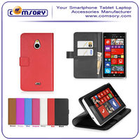 For Nokia Lumia1320 PU leather Wallet case with stand function and card holder