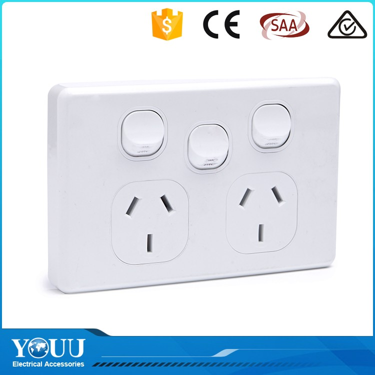 YOUU New Design 3 Gang 2 Way Ceiling Fan Reversing Wall Switch For Sale