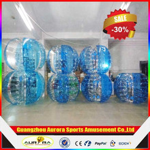 New finished blue color human bubble ball with factory price