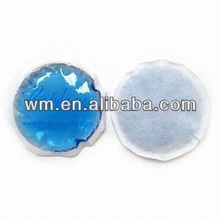 Promotional round cooling gel pad and hot cold pack with various colors