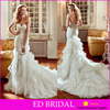 JU2207 Online Sale China Sweetheart Lace Tulle Ruffles Skirt Trumpet Wedding Dress Bridal