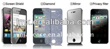 Diamond/tempered glass/high clear/anti-glare iPhone4 screen protector iphone accessories