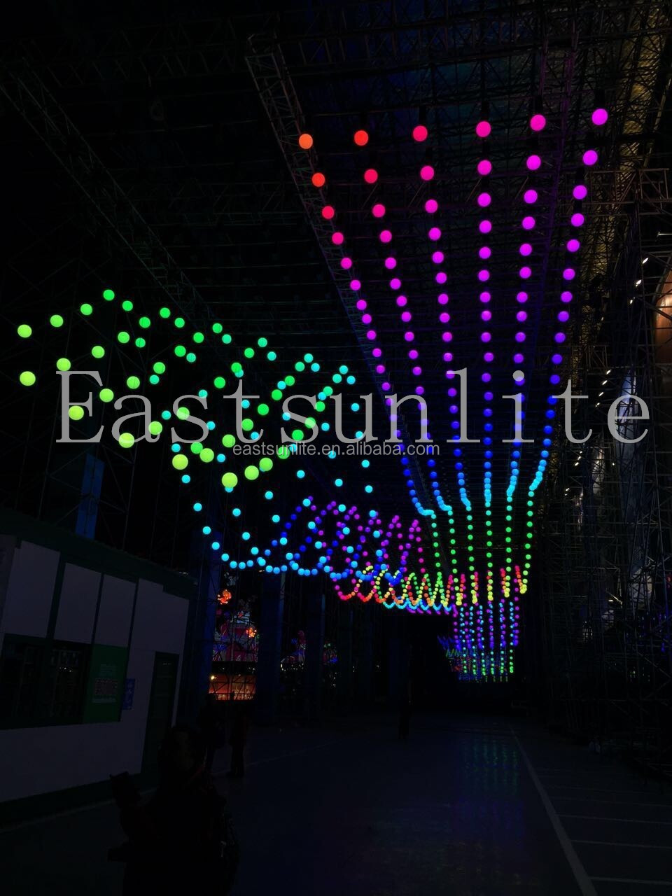 DMX 512 Color changing DMX Stage Winches LED DMX ball orbisfly