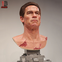 High End Private Customized Realistic Silicone Bust Statue