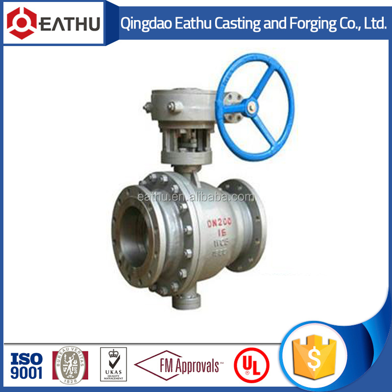 API cast steel trunnion ball valve