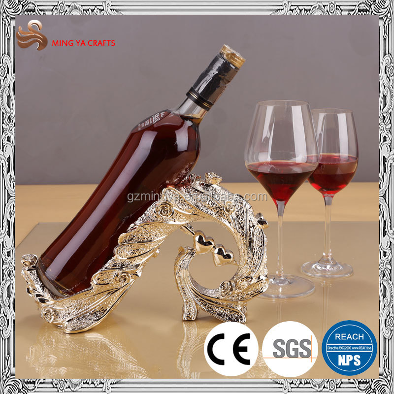 fashionable design polyresin wine rack for kitchen table decor