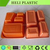 4 compartments PP material plastic food tray/container with lid