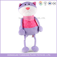 Cute Lifelike Talking Purple Plush Cat Toy for Kids