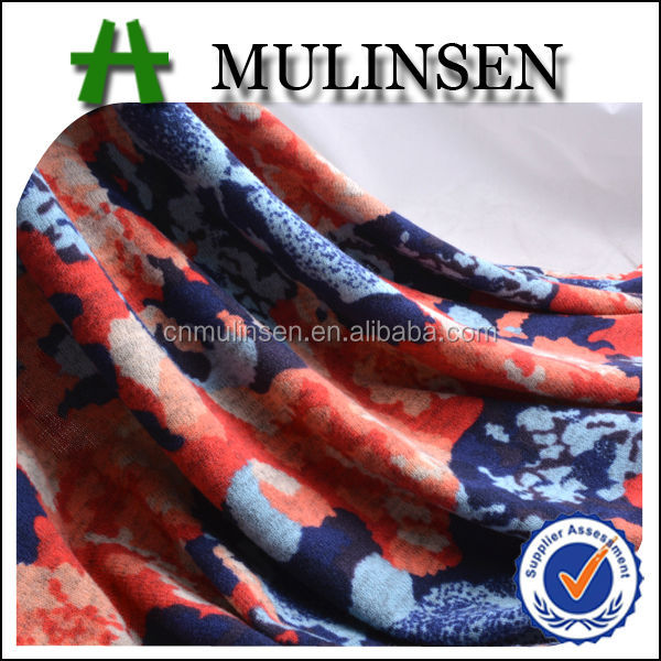 Mulinsen Textile Top Quality Knitting Polyester Animal Print Velvet Fabric