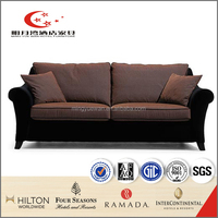italy leather fabric curved sofa