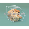 new design acrylic clear small food container with lid