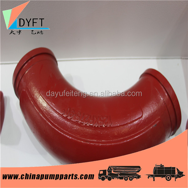 Schwing pump spare parts DN125*R275*90D XCMG concrete pump bend and pipe(10119116)