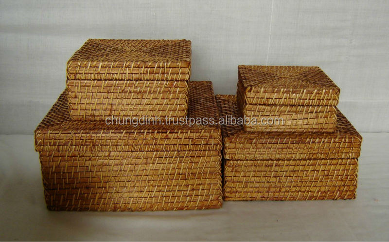 Bamboo Rattan Box CD06208-4
