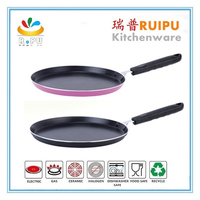 alumium non-stick white ceramic coating roasting pan non-stick flat pan/indian tawa pan