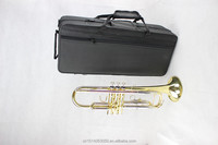 Wholesale high quality brass trumpets, BB trumpet, professional three color gold coating trumpet