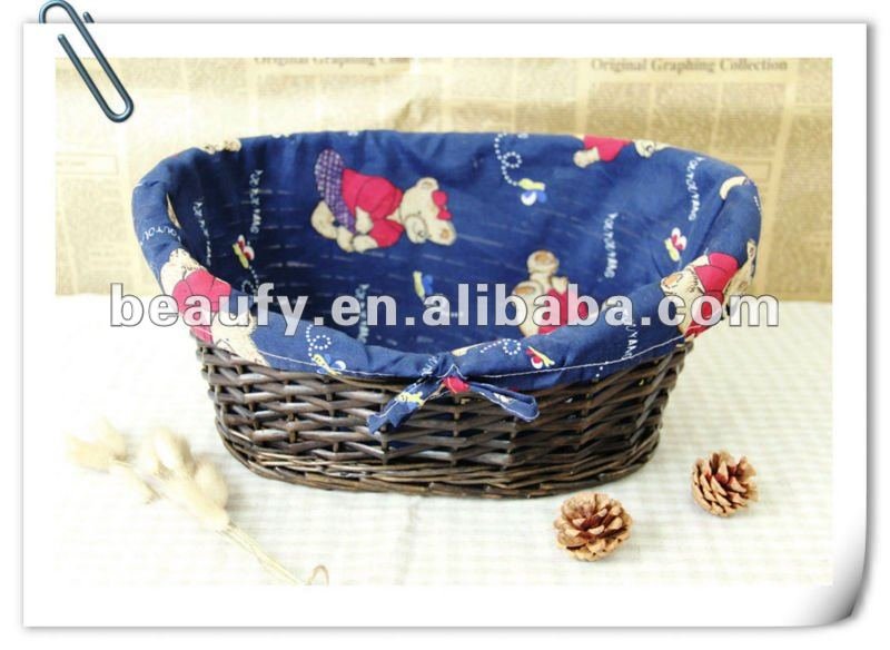 wicker pet basket