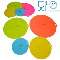 Flexible Keep Food Fresh Silicone Suction food Cover bowls Lid