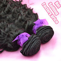 Good quality virgin Indian human hair Indian curl off black 20'' USD