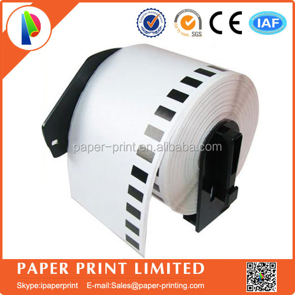 100 rolls Brother Compatible DK-22205 Labels 62mm*30.48M Continuous label free send to 10 reusable