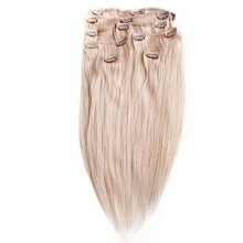 Abosolute Plantium Blonde Color Snow White Color Full Head Clip in Human Hair Extension