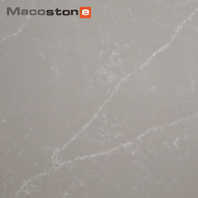 High Quality Prefab Grey Veins White Artificial Quartz Stone Buyers