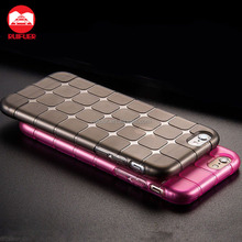 New Shockproof Gel Skin Grid TPU Case Cover For Apple iPhone 7 6 6s 5c SE 5 5S 4 4S