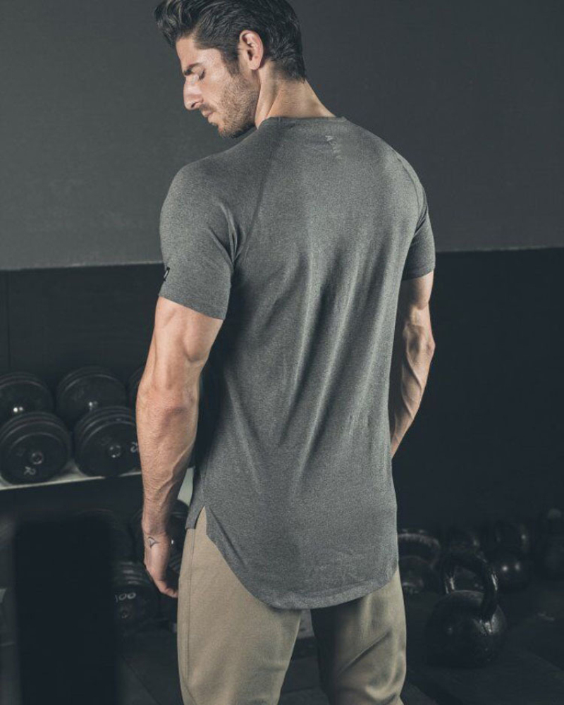 O Neck Sexy Men T-Shirt Muscle Fit T Shirt-1