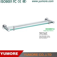 New arrival 304 stainless steel single tier glass platform colorful bathroom accessories