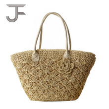 European American style Simple Crochet hook beach straw bag