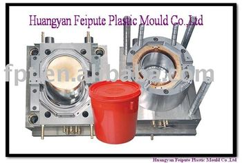 plastic bucket cover injection mould