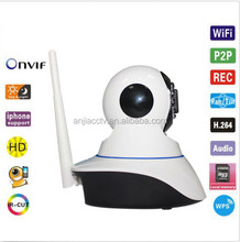 Hot Selling 12m Night Vision Support P2P and Alarm Pan Tilt 720P IP Security Camera