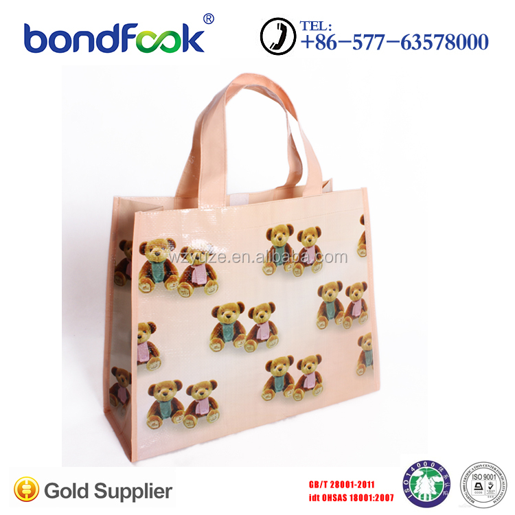 Hot Sale lovely laminated pp woven shopping bag