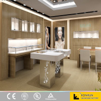 High Quality retail OEM Jewelry Shop Display Counter Design with led light