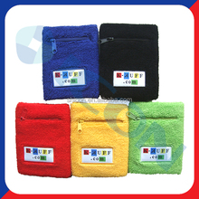 Zipper sweatband wristband