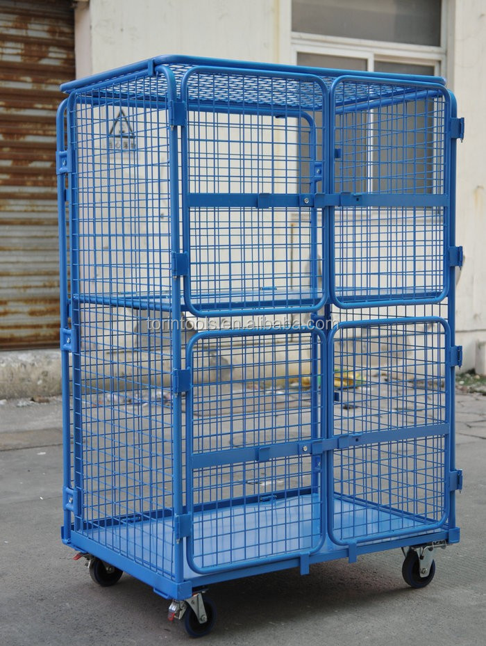 Foldable Saving Space Roll Off Container For Supermarket Transport