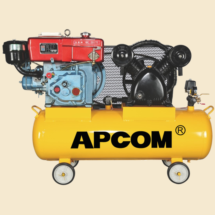 AV6012 6hp 16bar 22CFM <strong>100</strong> liter automobile tire inflation portable diesel air compressor