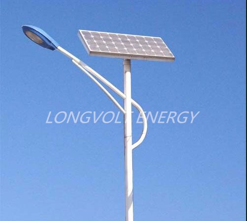 80W lithium battery solar LED road lamp
