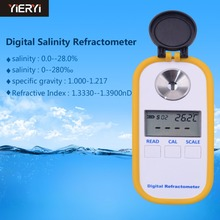 Digital Salinity Refractometer with 0-28% Measuring Range and ATC RHD-201