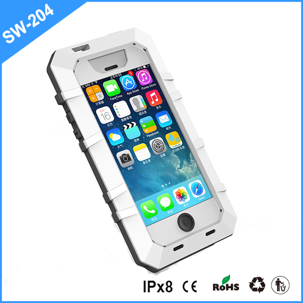 shock rain and dust proof Metal Gorilla Glass Waterproof Case For Iphone 5s