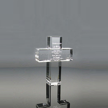 Exquisite crystal Christian cross model glass trophy award gift
