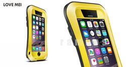 Love Mei Shock Water Proof Dustproof Metal Case Gorilla Glass for iPhone 6 4.7