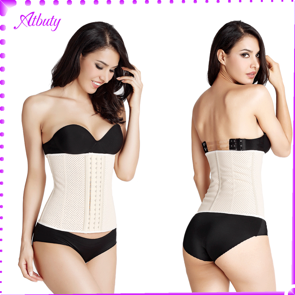 steel bone corset nude breathable waist trainer training corset